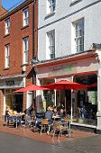 Pavement cafe, Lichfield, England.