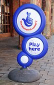 National Lottery Sign, UK.