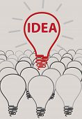 idea light bulb concept creative design