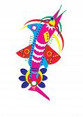 pic of swordfish  - Geometric Illustration of an imaginary decorated swordfish  - JPG