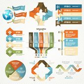 Infographics set with options. Vector Design Elements.