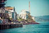 picture of alcatraz  - Alcatraz Island in San Francisco in USA - JPG