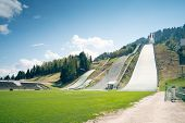 An image of the ski-jump at Garmisch-Partenkirchen Bavaria Germany