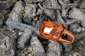 Chain Saw And Wood