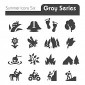 Summer Icons  Gray Series
