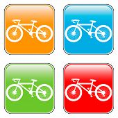 Bicycle Icon On Square Internet Button