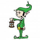 leprechaun holding a lantern