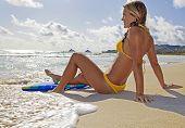 girl with boogieboard