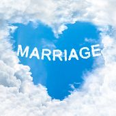 Marriage Word On Blue Sky