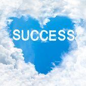Success Word On Blue Sky