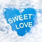 Swet Love Word On Blue Sky
