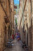 Narrow Street In Dubrovnik, Croatia
