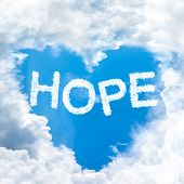 Hope Concept Tell By Shy Cloud Nature