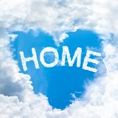 Love Home Concept Tell By Shy Cloud Nature