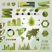Green Graphic Elements For Infographics.