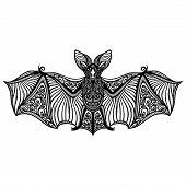 Vector Decorative Bat. Patterned design