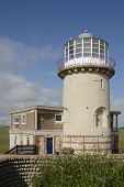 Lighthouse On Beachy Head. England