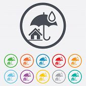 Home sign icon. Real estate insurance.