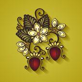 Vector Decorative Strawberry Bush