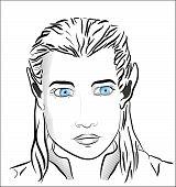 Blue-eyed Beautiful Elf Man
