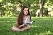 Cute Teen Studying