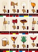 Different countries kitchens