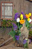 Decorative Tulip Floral Display