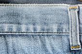 Closeup Old Blue Jeans As Background.
