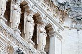 Detail Facade Main Entrance Basilica Of Notre Dame De Fourviere