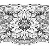 Vector Monochrome Floral Background