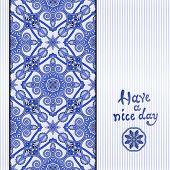 floral geometric background, vintage ornamental design template