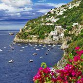 scenic Amalfi coast ,Italy