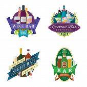 wine beer bar signs labels badges