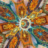 Fractal plasma flower background