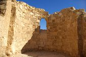 picture of zealots  - Ruins of ancient judaic Masada fortress - JPG