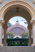 Balboa Park Botanical Building View Through Archway, San Diego California