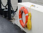 The orange lifebuoy