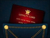 Loyalty Card In Blue Jeans Pocket