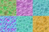 Set Of Crystal Stone Seamless Generated Textures