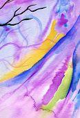 Purple watercolor One