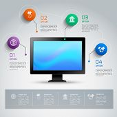 Computer infographic template