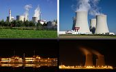 Nuclear power plant Temelin in Czech Republic Europe, postcard