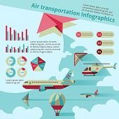 Air transport infographic