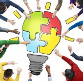 Business People Working Together and Innovation Concept