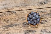 Fresh Wild Berries On Wooden Background