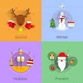 Christmas flat set