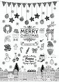 Hand-drawn Christmas Doodle Icons and Elements