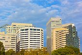 Office buildings in Arlington, Virginia.