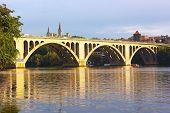 Francis Scott Key Bridge in Washington DC USA