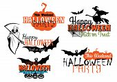 Halloween party designs set